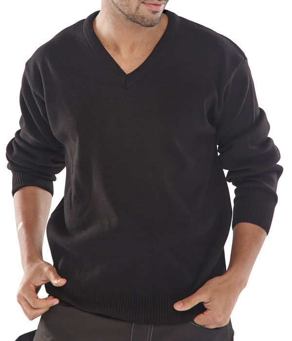 CLICK ACRYLIC V-NECK SWEATER - ACSVBL