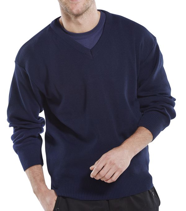 CLICK ACRYLIC V-NECK SWEATER - ACSVN