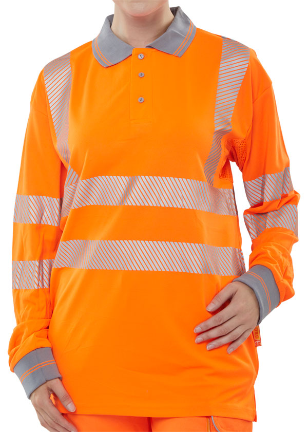 HIVIZ EXECUTIVE LONG SLEEVE POLO - BPKEXECLSOR