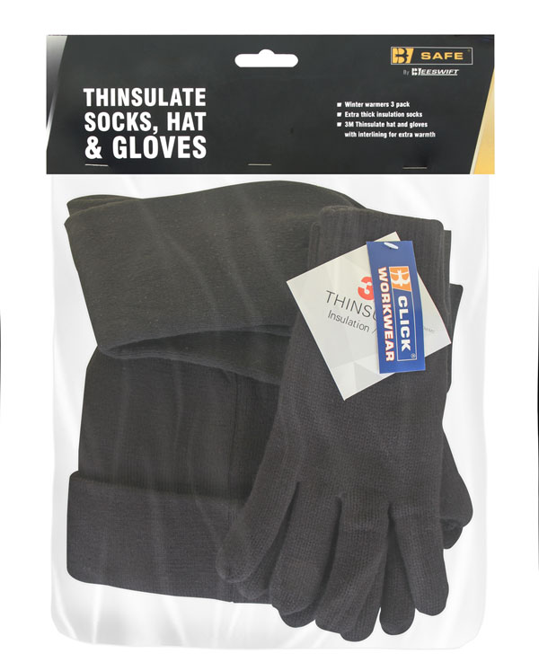 THINSULATE SOCKS HAT & GLOVES  - BS210