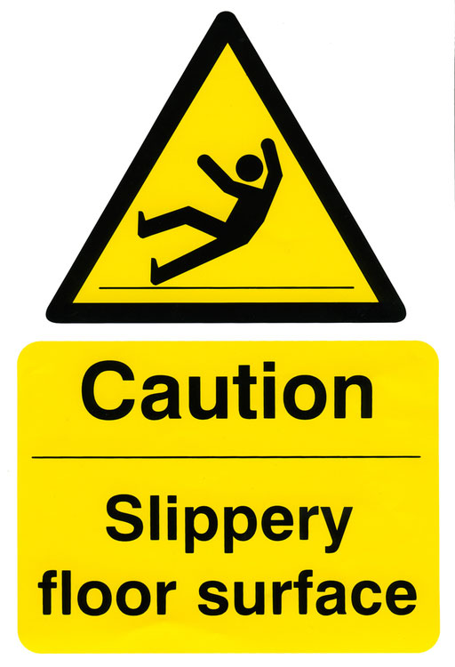 CAUTION SLIPPERY FLOOR SURFACE SIGN - BSS11039