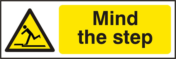 MIND THE STEP SIGN - BSS11107