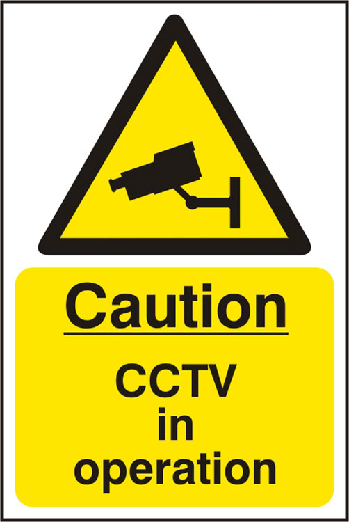 CAUTION CCTV IN OPERATION SIGN - BSS11215