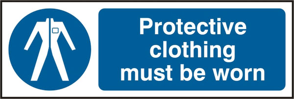 PROTECTIVE CLOTHING MUST BE WORN SIGN - BSS11380