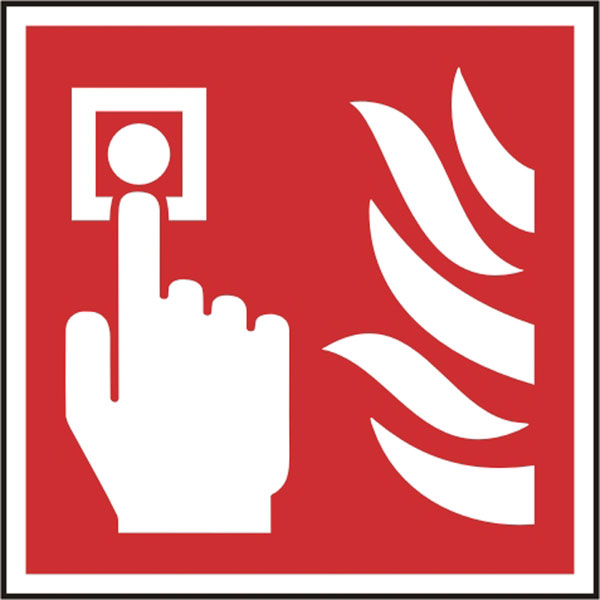FIRE ALARM CALL POINT SYMBOL SIGN - BSS11690