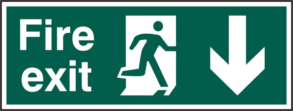 FIRE EXIT SIGN - BSS12097