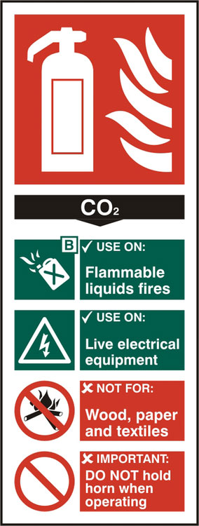 FIRE EXTINGUISHER CO2 SIGN - BSS12311