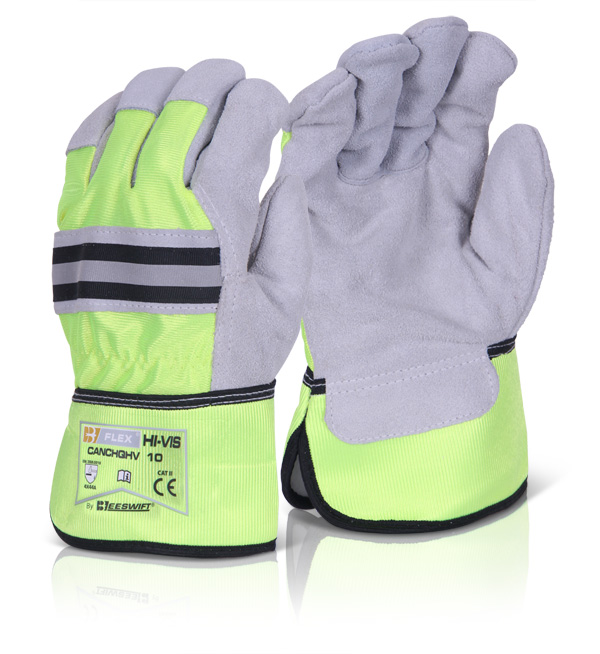 CANADIAN HIGH QUALITY HIGH VIZ RIGGER GLOVE - CANCHQHV