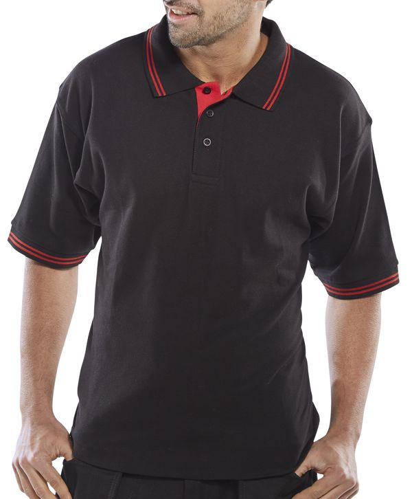 CLICK TWO TONE POLO SHIRT - CLPKSTTBLRE