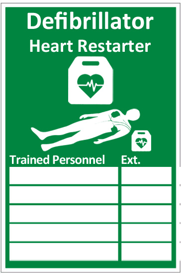 AED TRAINED PERSONNEL SIGN  - CM1327