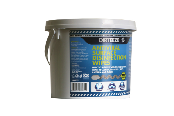 ANTIVIRAL SURFACE WIPES BUCKET  - DAVB225