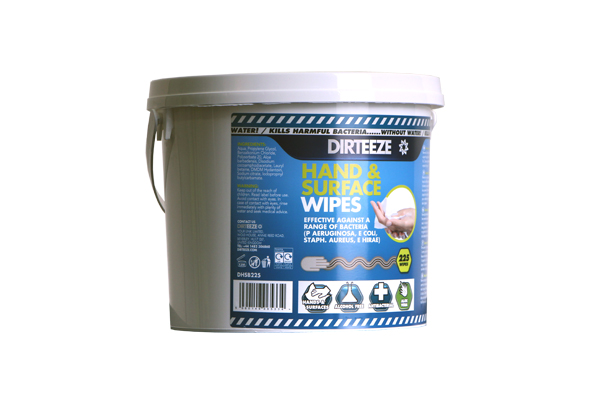 HAND AND SURFACE WIPES BUCKET - DHSB225