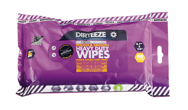 ROUGH AND SMOOTH WIPES (PACK OF 40) - DZRS40