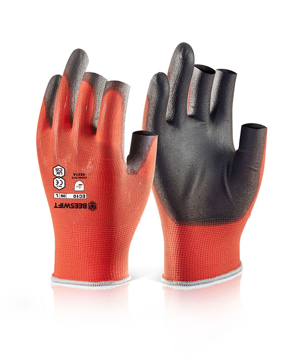 PU COATED 3 FINGERLESS GLOVE - EC10N
