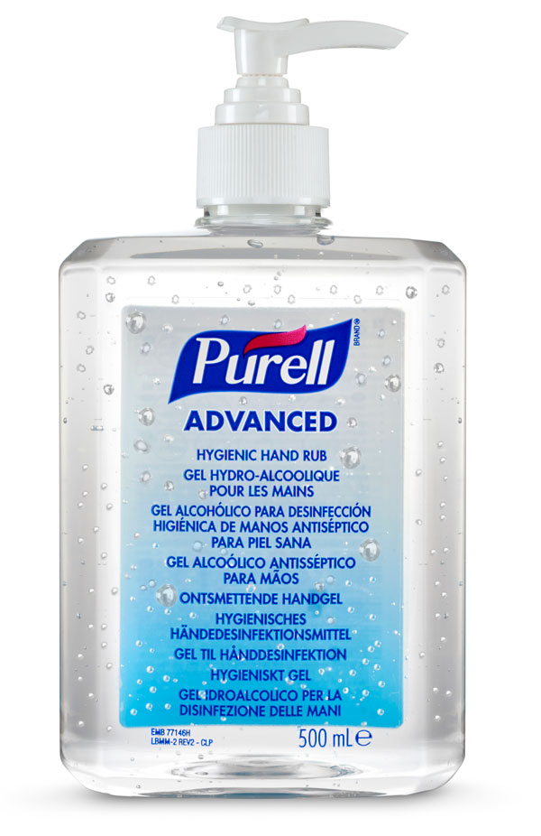 PURELL ADVANCED HYGIENIC HAND RUB 12 X 500ML - GJ9268-12