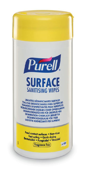 PURELL SURFACE SANITISING WIPES (TUB) CASE/12 - GJ95102-12