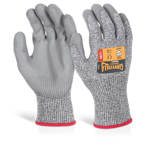 GLOVEZILLA PU PALM COATED GLOVE - GZ03GY