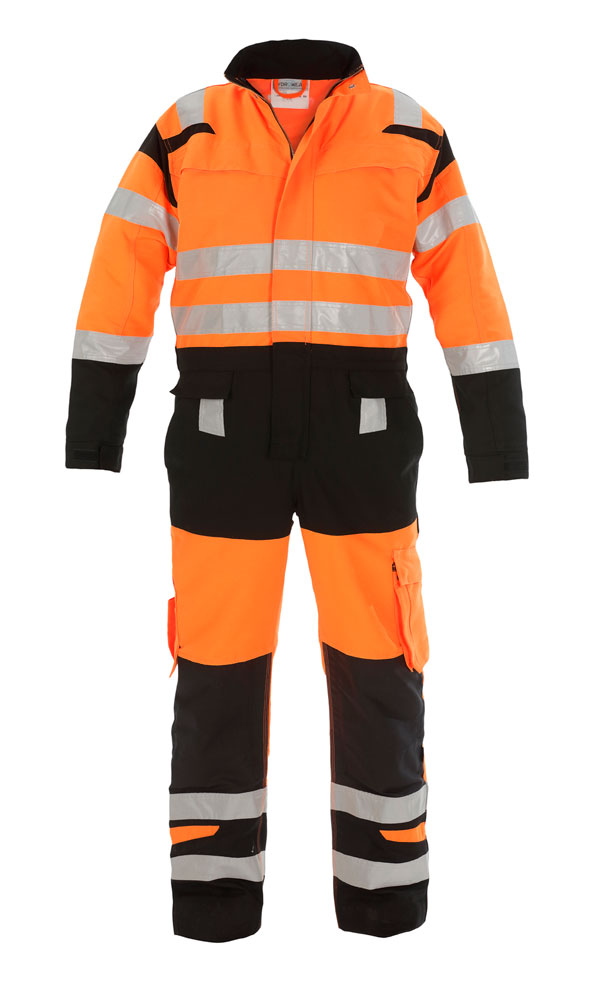 HOVE HIGH VISIBILITY TWO TONE COVERALL - HYD048471ORBL