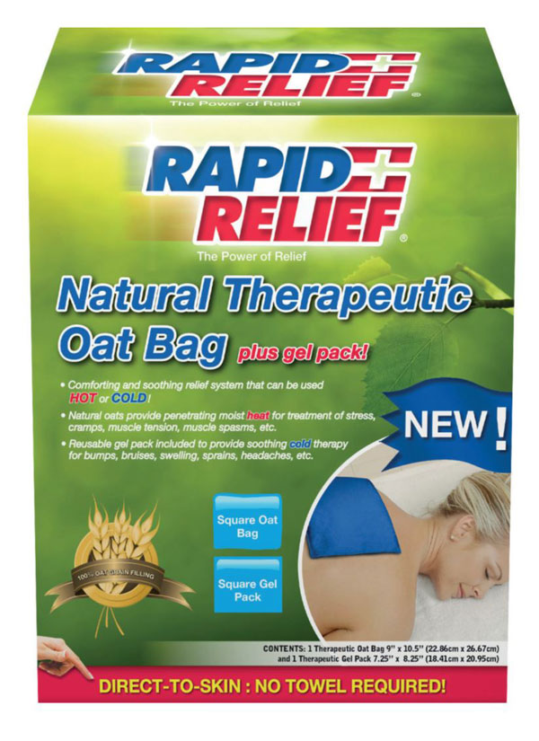 NATURAL THERAPEUTIC OAT BAG C/W GEL PACK (SQUARE) - RA11278