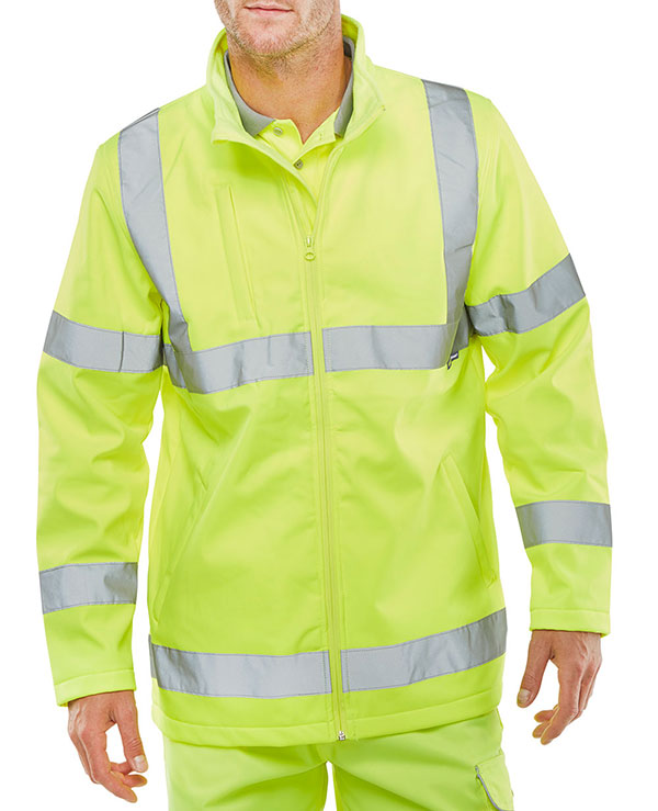 SOFT SHELL LIGHTWEIGHT HI VIZ JACKET - SS20471