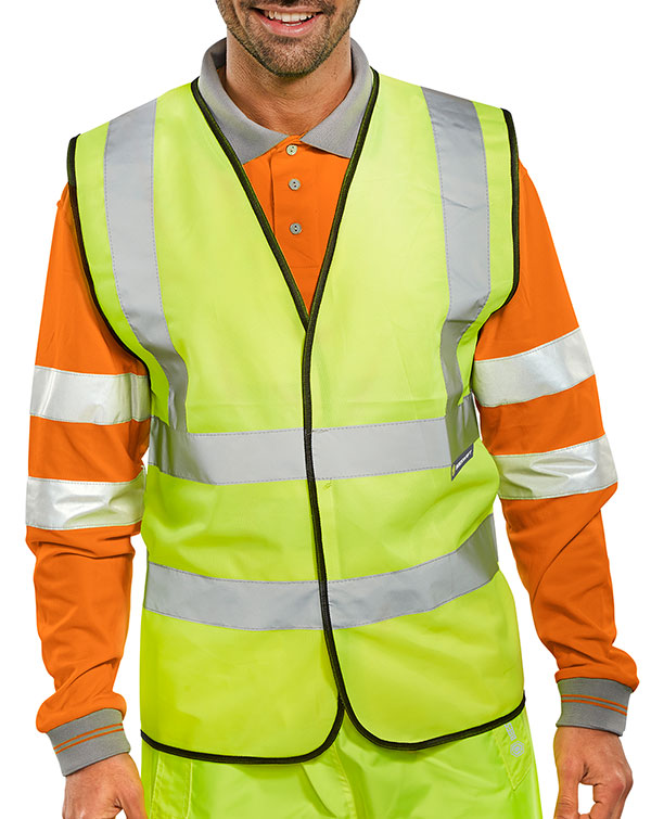 BSEEN EN ISO 20471 VEST ORANGE (BULK PACK) - BWCSY